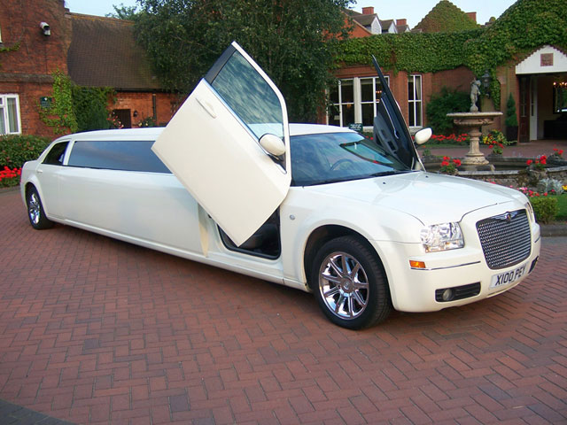 Chrysler 300 Limousine with doors open