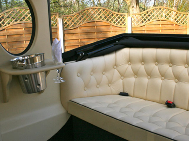 Imperial Landaulette Wedding Car Inside
