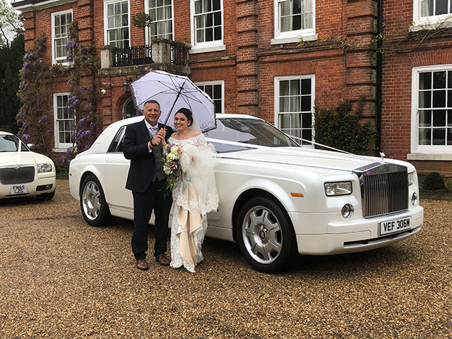 Phantom Rolls Royce Wedding Car
