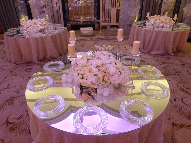 Mirror Table Top Hire