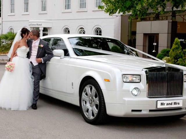 Phantom Rolls Royce Wedding Car